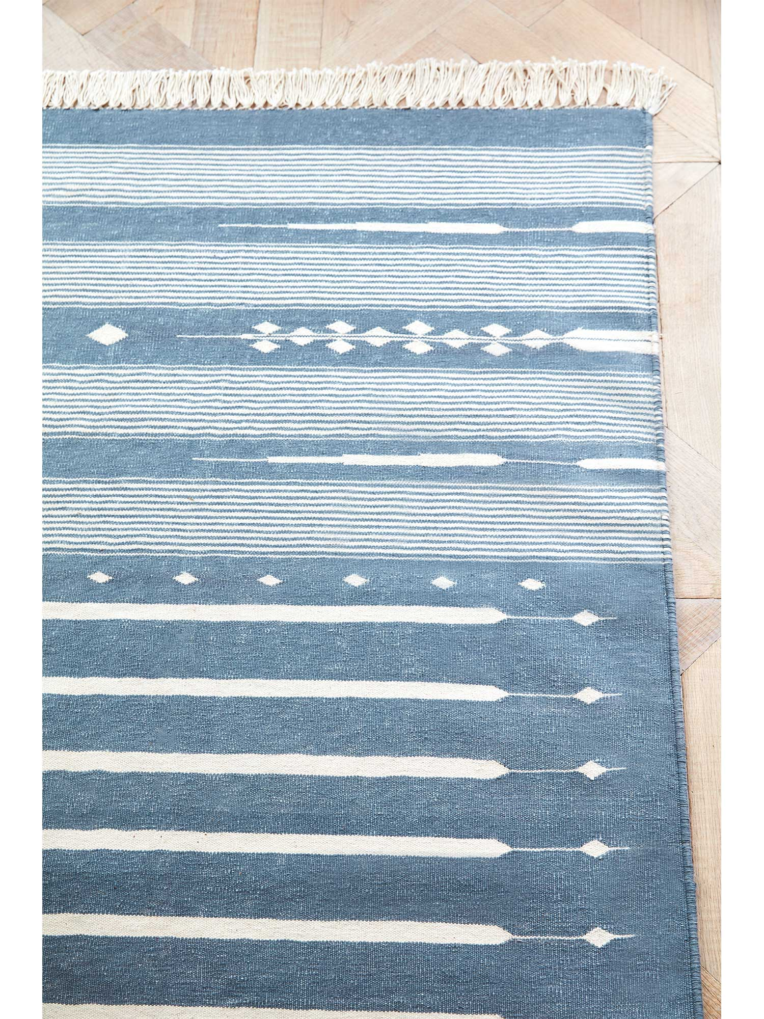 Blue And White Dhurrie Rug Sophie Conran