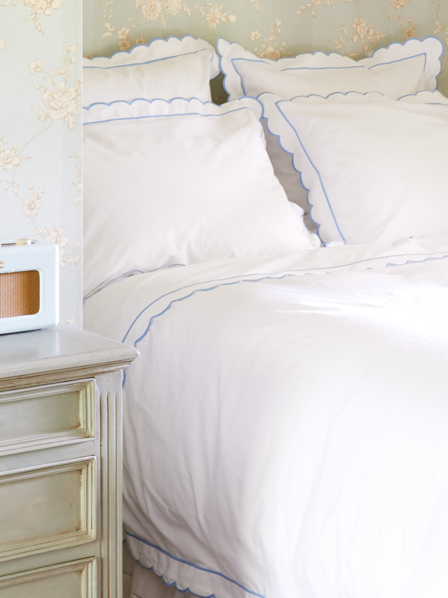 inuse ebay peri chenille scallop duvet cover scalloped itm home by