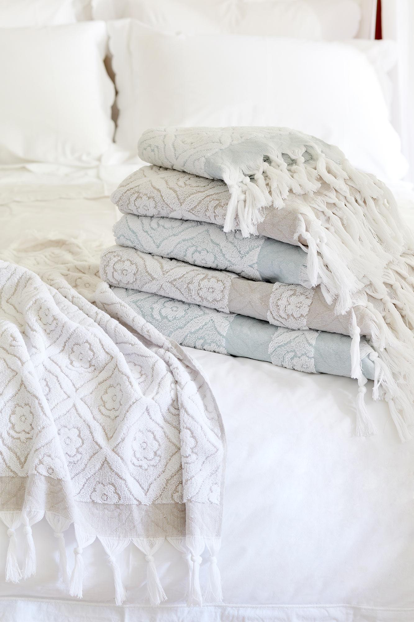 Flora Tassel Towel Collection Sophie Conran Shop
